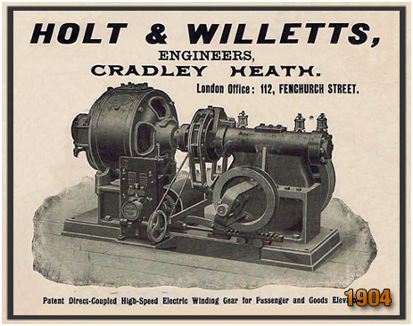 Cradley Heath : Advertisement for Holt & Willetts Engineers [1904]
