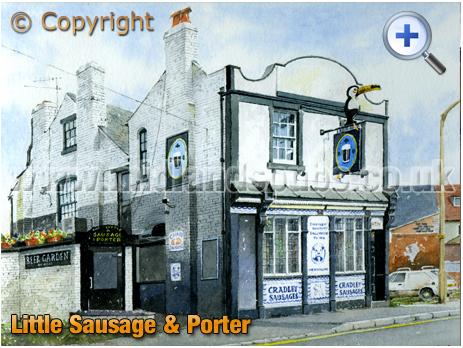 Cradley Heath : Little Sausage & Porter on St. Anne's Road [1995]