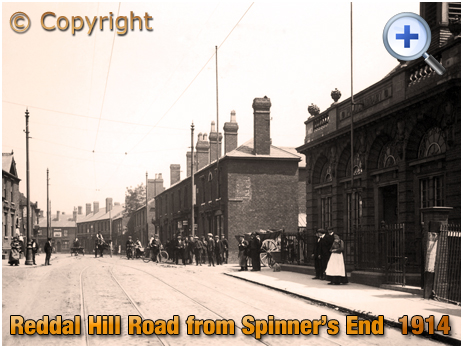 Cradley Heath : Reddal Hill Road from Spinner's End [c.1914]