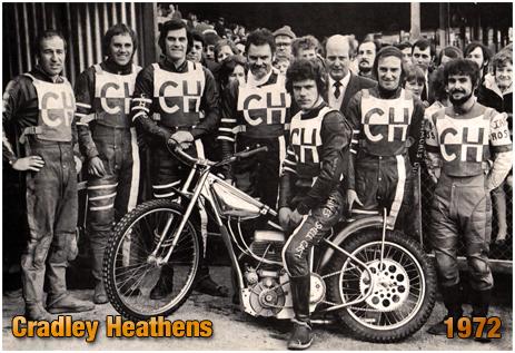Cradley Heathens Speedway Team with Captain Bernt Persson [1972]