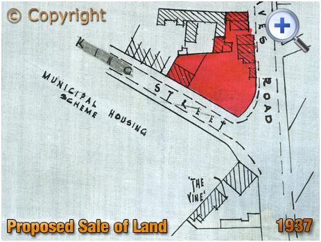 Cradley Heath : Sale of land at Corngreaves opposite the Vine Inn [1937]