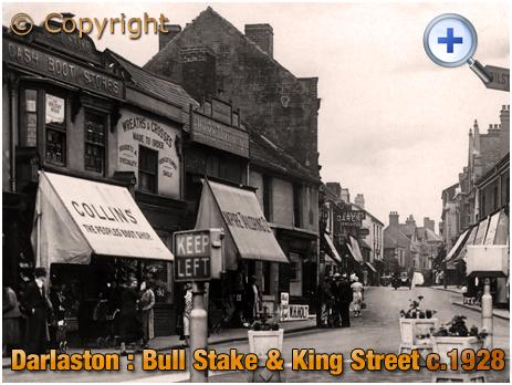 Darlaston : Bull Stake and King Street [c.1928]