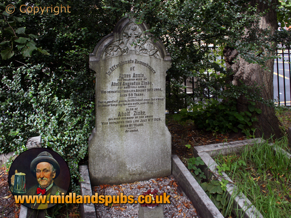 Amblecote : Grave of Adolf and Agnes Zinke at Holy Trinity Church