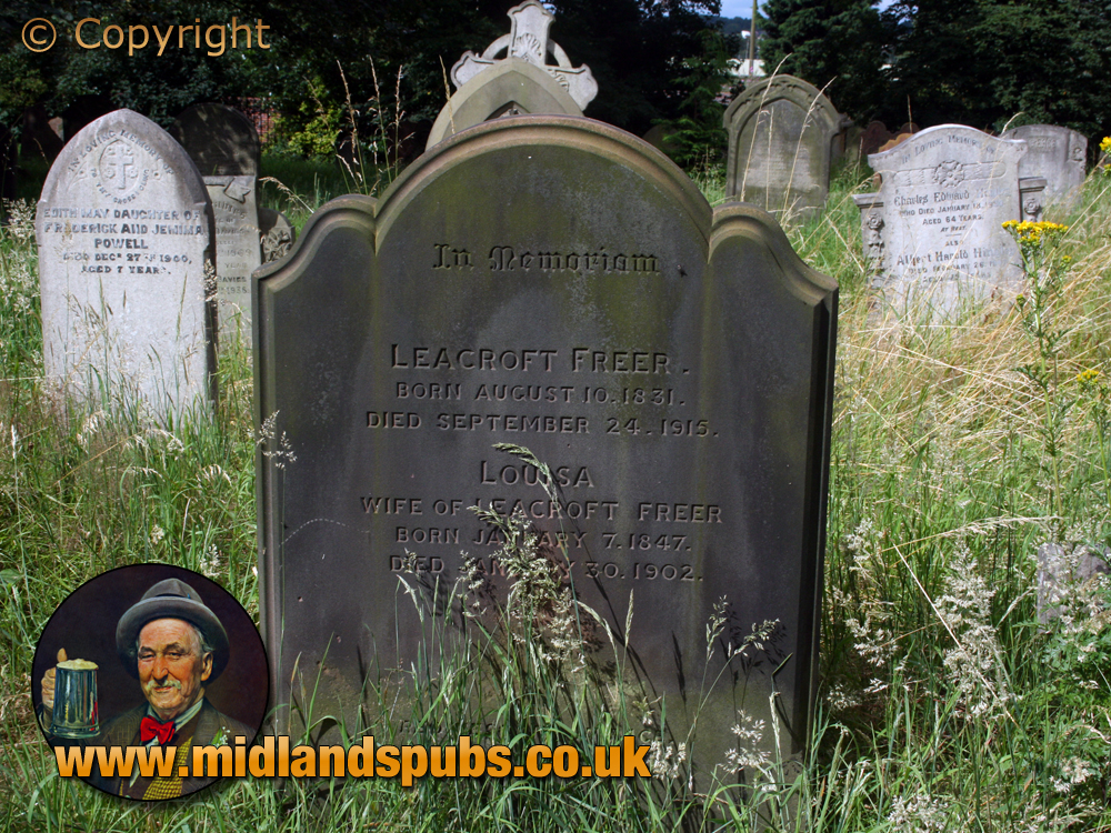 Amblecote : Grave of Leacroft and Louisa Freer at Holy Trinity Church