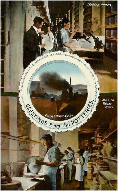 Burslem : Greetings From The Potteries [c.1910[
