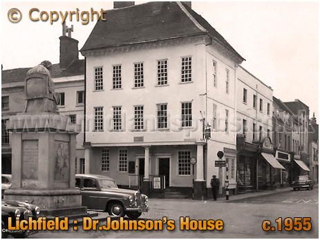 Lichfield : Dr. Johnson's House and Statue [c.1955[