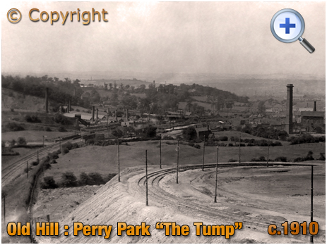 Old Hill : Tram Line at The Tump later Perry Park Road [c.1910]