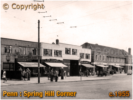 Penn : Spring Hill Corner and Post Office [c.1955]