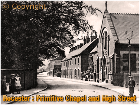 Rocester : Primitive Chapel and High Street [c.1907]