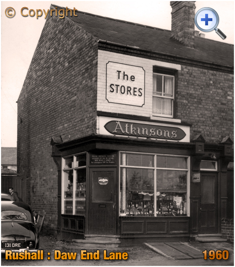 Rushall : The Stores on Daw End Lane [1960]