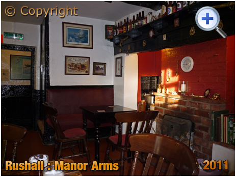 Rushall : Interior of The Manor Arms at Daw End [2011]