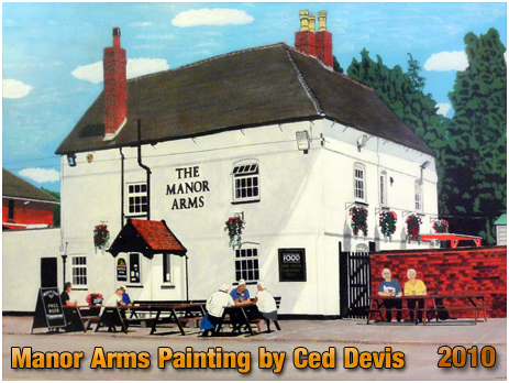 Rushall : Painting of the Manor Arms by Ced Devis [2010]