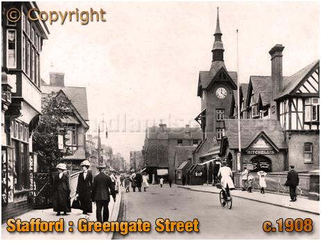 Stafford : Greengate Street [c.1908]