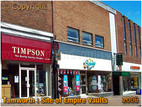 Tamworth : Site of the Empire Vaults in George Street [2006]