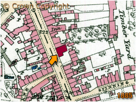 Tamworth : Map Showing the Globe Inn [1885]