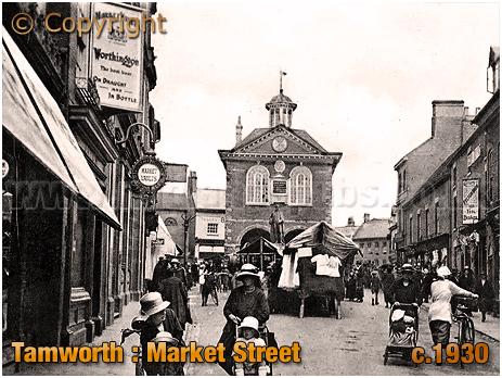 Tamworth : Market Vaults and Market Street [c.1930]