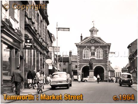 Tamworth : Market Vaults and Market Street [c.1964]