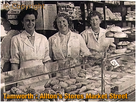 Tamworth : Shop Staff at Allton's Stores in Market Street