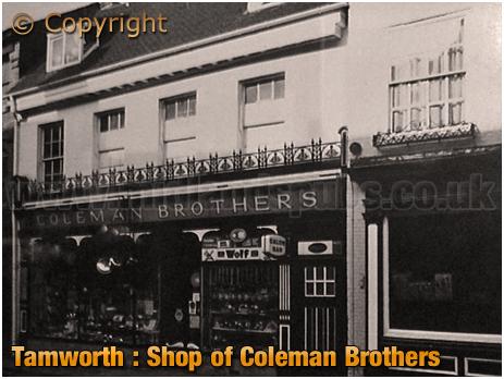 Tamworth : Ironmongery Shop of Coleman Brothers in Market Street [c.1958]