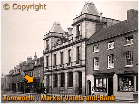 Tamworth : Market Vaults and adjacent Bank [c.1900]