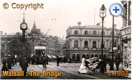Walsall : The Bridge from Bradford Street [c.1928]