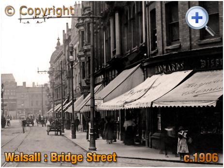 Walsall : North Side of Bridge Street [c.1906]