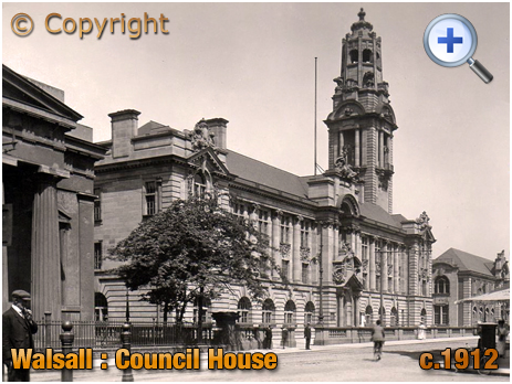 Walsall : Council House on Lichfield Street [c.1912]