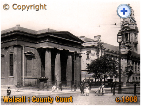 Walsall : County Court on the corner of Lichfield Street and Leicester Street [c.1908]