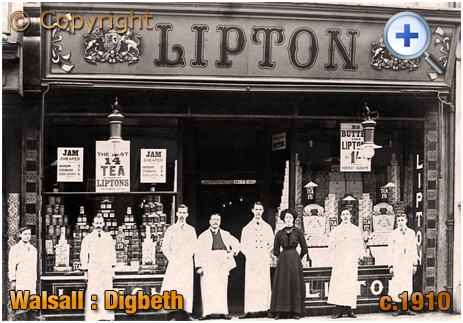 Walsall : Lipton's Store on Digbeth [c.1910]