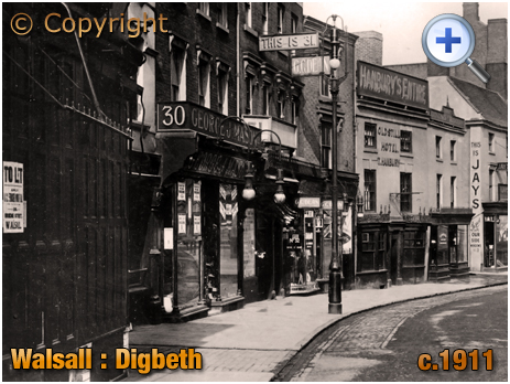 Walsall : Shops on the south-west side of Digbeth [c.1911]