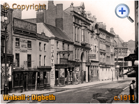 Walsall : Digbeth looking towards The Bridge [c.1911]