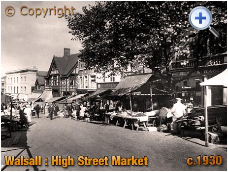Walsall : High Street Market [c.1930]