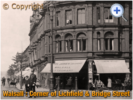 Walsall : Restaurant of John Jones on the corner of Lichfield Street and Bridge Street [c.1912]