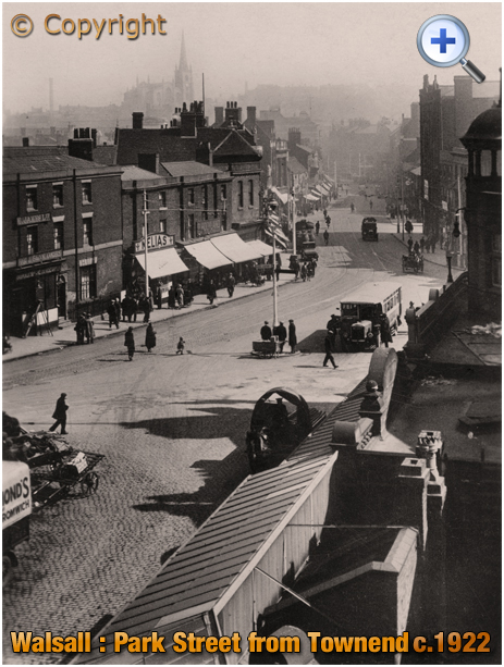 Walsall : Park Street and Townend from Seymour House [c.1914]