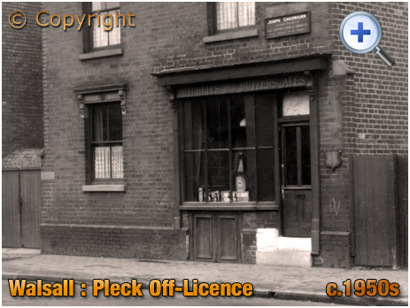 Walsall : Off-Licence on Wednesbury Road at Pleck [c.1950s]