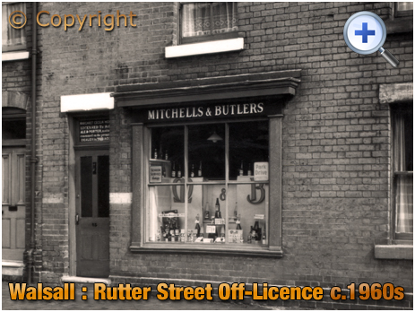 Walsall : Off-Licence in Rutter Street at Caldmore [c.1960s]