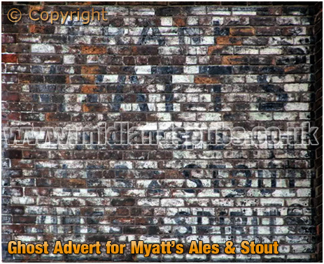 Ghost Advert for Myatt's Ales at The Star at Willenhall [2015[