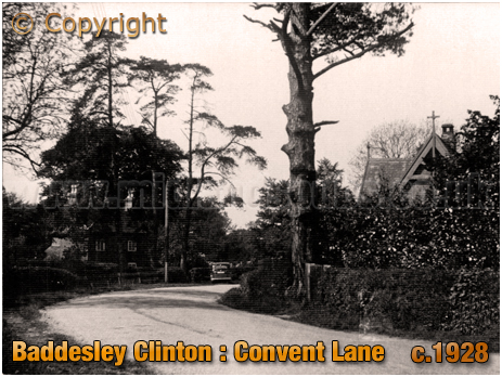 Baddesley Clinton : Convent Lane [c.1928]