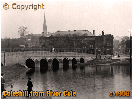Coleshill : View from the River Cole [c.1908]