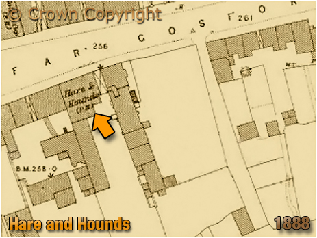 Coventry : Map showing the location of the Hare and Hounds on Far Gosford Street [1888]