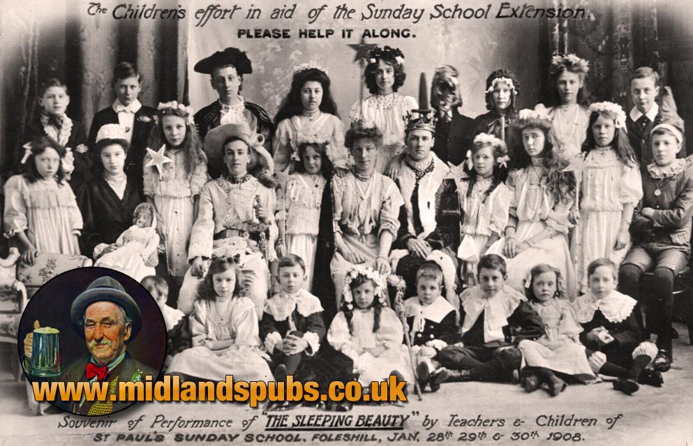 "Foleshill : St. Paul's Sunday School performing ""The Sleeping Beauty"" [1908]"