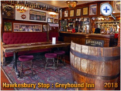 Foleshill : Bar of The Greyhound at Hawkesbury Stop [2018]