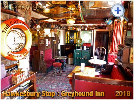 Foleshill : Interior of The Greyhound at Hawkesbury Stop [2018]