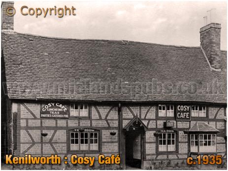 Kenilworth : Cosy Café Tea Rooms Opposite Castle Entrance [c.1935]