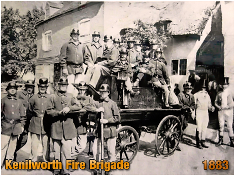 Kenilworth : Fire Brigade with Manual Pump Fire Engine [1883]