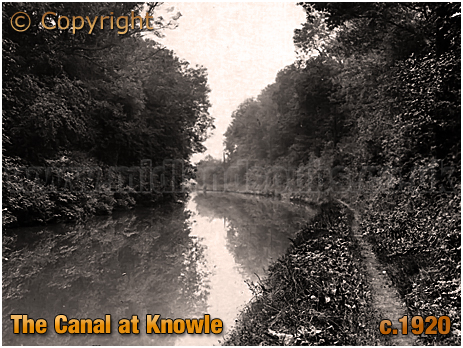 The Grand Union Canal at Knowle [c.1920]