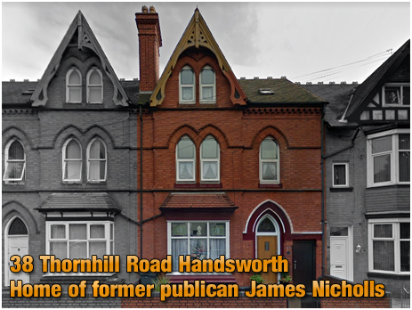 Handsworth : Home of James Nicholls, former publican of the Boot Inn at Lapworth