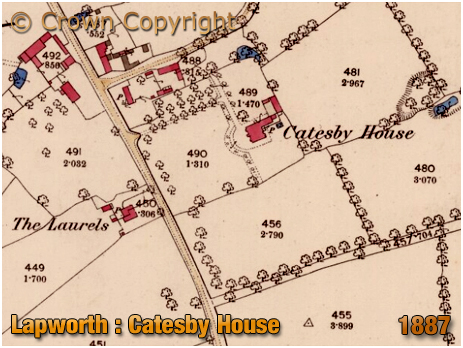 Lapworth : Map Extract showing Catesby House [1887]
