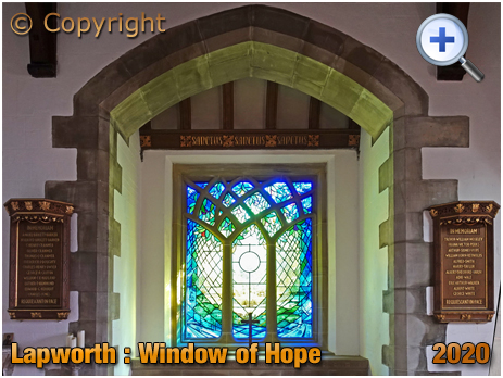 Lapworth : Window of Hope in North Chapel of the Church of Saint Mary the Virgin [2020]