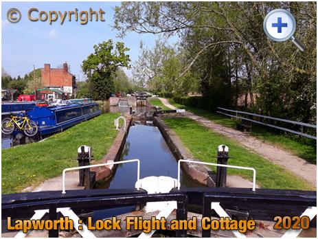 Lapworth : Lock Flight and Cottage from Split Bridge [2020]